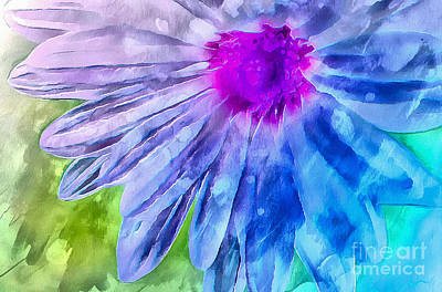 Blue Flowers Photograph - Splash Of Spring by Krissy Katsimbras