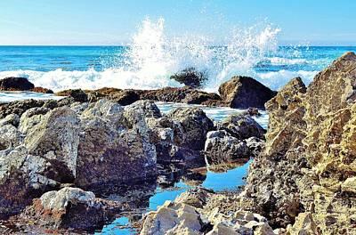 Photograph - Splash On The Rocks by Jonathan Bayani