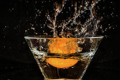 Photograph - Splash Orange by Menachem Ganon