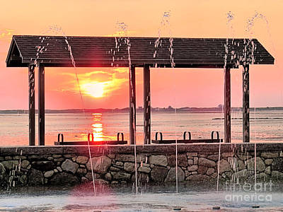 Photograph - Splash Pad Sunrise by Janice Drew