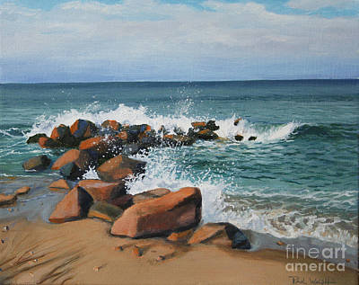 Block Island Painting - Splash by Paul Walsh