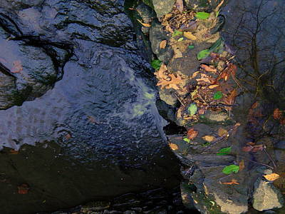 Photograph - Splash Reflection Stone by Kathy Barney