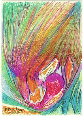 Drawing - Splash by Ruth Renshaw