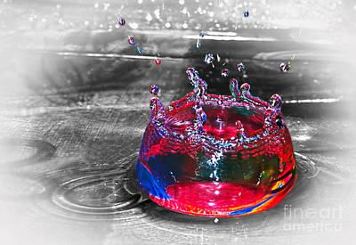 Zen - Splash - Selective Color by Kaye Menner  by Kaye Menner