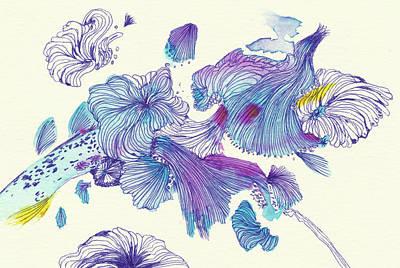 Splash - #ss18dw007 Art Print by Satomi Sugimoto