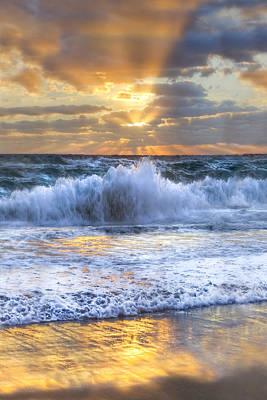 Splash Sunrise II Art Print by Debra and Dave Vanderlaan