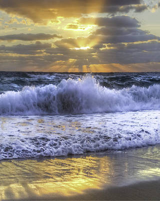 Hobe Photograph - Splash Sunrise IIi by Debra and Dave Vanderlaan