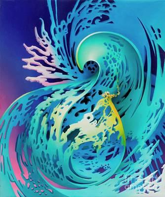 Splash Art Print by Symona Colina