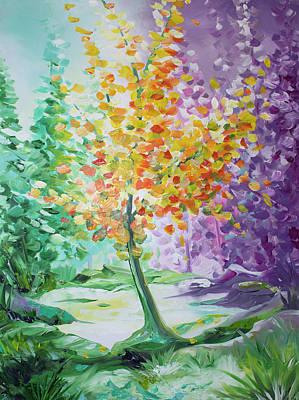 Painting - Splash Tree by William Love