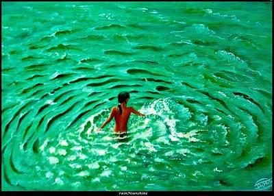 Painting - Splash by Trinath Sen