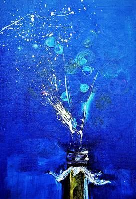Digital Art - Splash Up The Holiday Painting by Lisa Kaiser
