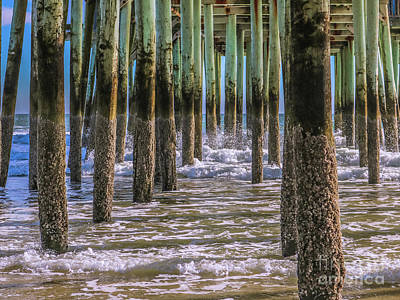 Photograph - Splashes Under The Pier by Claudia M Photography