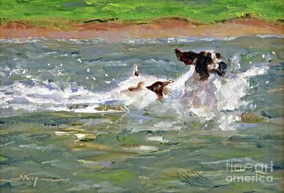 Painting - Splashing In by Shelley Koopmann