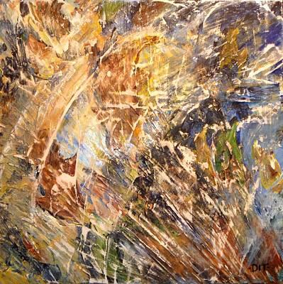 Painting - Splashing Leaves by Denise Ivey Telep