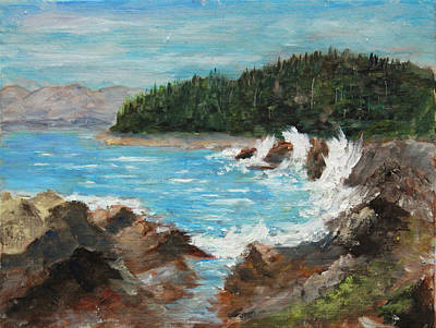 Juneau Park Painting - Windy Day At Eagle Rock by Jim Leach