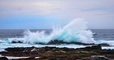 Photograph - Splashing Waves Of Tsitsikamma by Jeff at JSJ Photography