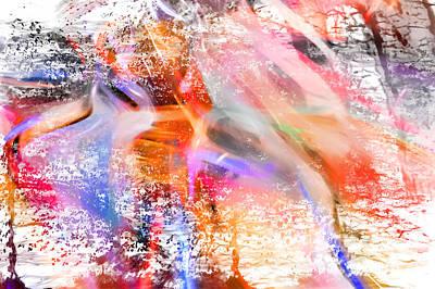 Digital Art - Splatter Dance by Margie Chapman