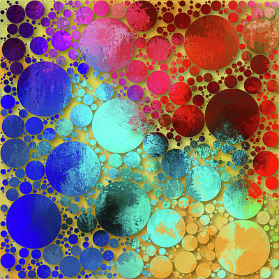 Joyful Mixed Media - Splatter Of Happiness Abstract by Georgiana Romanovna