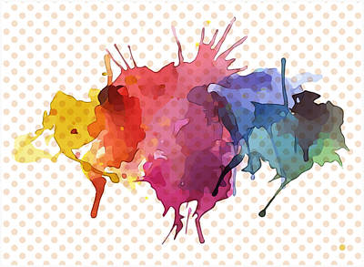 Digital Art - Splatter Watercolor by Gary Grayson
