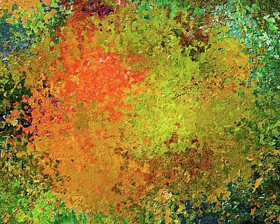 Mixed Media - Splattered Autumn Abstract by Georgiana Romanovna