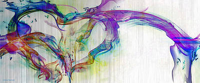Digital Art - Splattered Paint Heart by Linda Sannuti