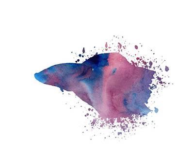 Betta Splendens Painting - Splendens Siamese Fighting Fish by Steph J Marten