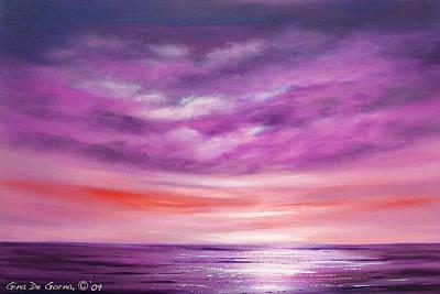 Painting - Splendid Purple by Gina De Gorna