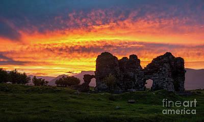 Photograph - Splendid Ruins Of Tormak Church During Gorgeous Sunset, Armenia by Gurgen Bakhshetsyan
