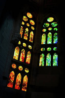 Photograph - Splendid Stained Glass Windows by Georgia Mizuleva