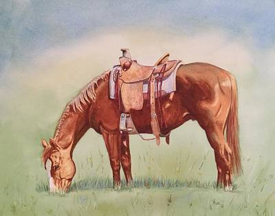Rawhide Painting - Splendor In The Grass by Valerie Coe