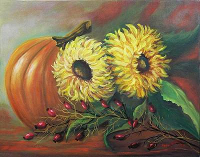 Floral Painting - Splendor Of Autumn by Vesna Martinjak