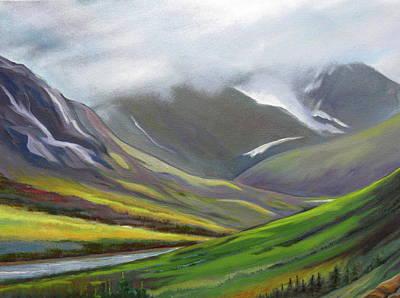 Alaska Scene Painting - Splendor by Shirley Galbrecht