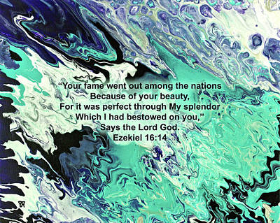 Ezekiel Painting - Splendor With Scripture by Vicki Hawkins