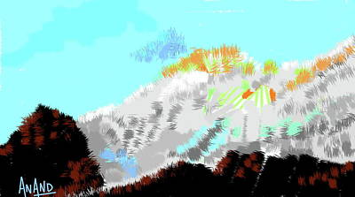 Digital Art - Splendors Of Himalayas-1 by Anand Swaroop Manchiraju