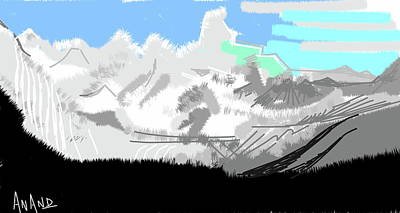 Digital Art - Splendors Of Himalayas-5 by Anand Swaroop Manchiraju