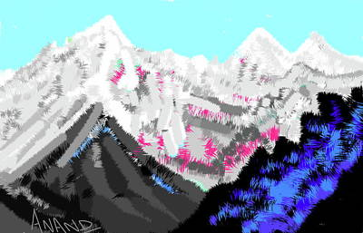 Digital Art - Splendors Of Himalayas-6 by Anand Swaroop Manchiraju