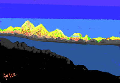 Digital Art - Splendors Of Himalayas-8 by Anand Swaroop Manchiraju