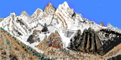 Digital Art - Splendors Of Himalayas-9 by Anand Swaroop Manchiraju