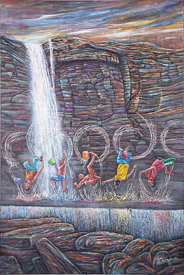 Painting - Splice The Splash by Sethu Madhavan