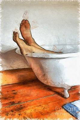Splish Splash I Was Taking A Bath Art Print