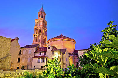 Photograph - Split Cathedral And Diocletian Palace Evening View by Brch Photography