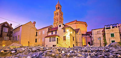 Photograph - Split Cathedral And Diocletian's Palace Street Evening View by Brch Photography