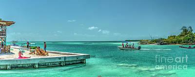 Photograph - Split Caye Caulker Belize Pano by David Zanzinger