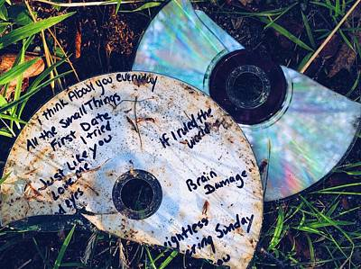 Mixtape Photograph - Split by Colleen Williams