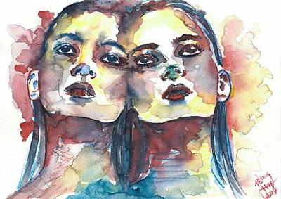 Drawing - Split by Julia Zoellner
