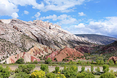 Photograph - Split Mountain Anticline by Kathleen Bishop