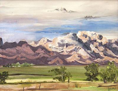 Painting - Split Mountain by Nila Jane Autry
