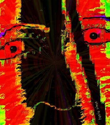 Mood Swings Painting - Split Personality by Fania Simon