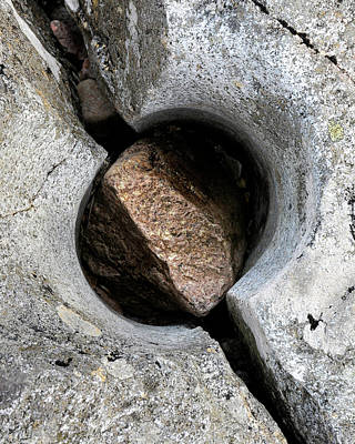 Photograph - Split Pothole, River Coupall, Scotland by David Stanley