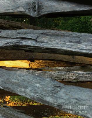 Photograph - Split Rail Abstract by Jennifer White